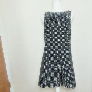 Lilly Pulitzer Polka Dot Sleeveless Midi Dress